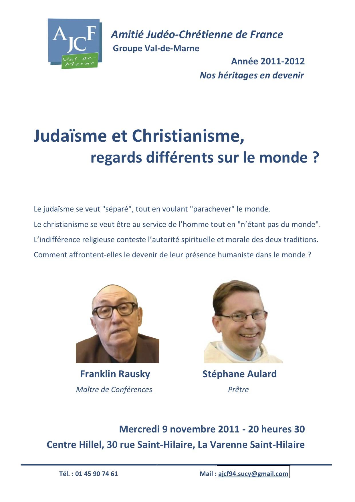 Amitié Judéo Chrétienne nov 2011
